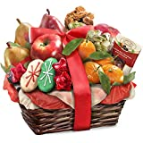 Golden State Fruit Rustic Treasures Holiday Fruit Basket Christmas Gift