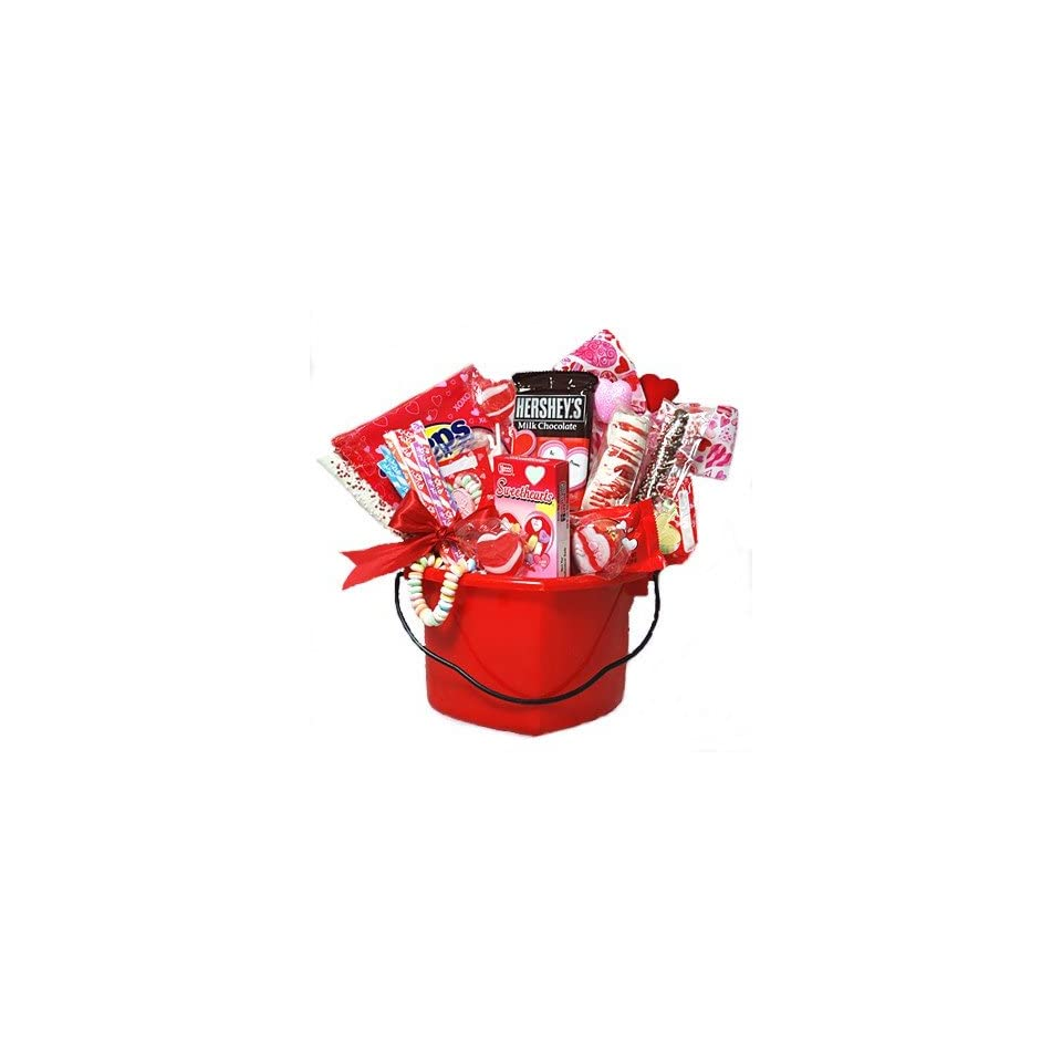 Valentines Day Hearts Basket of Candy   Gift Idea for Kids