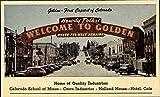 Welcom to Golden Golden, Colorado Original Vintage Postcard