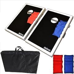 GoSports CornHole Bean Bag Toss Game Set - Superior Aluminum Frame by Go Pong