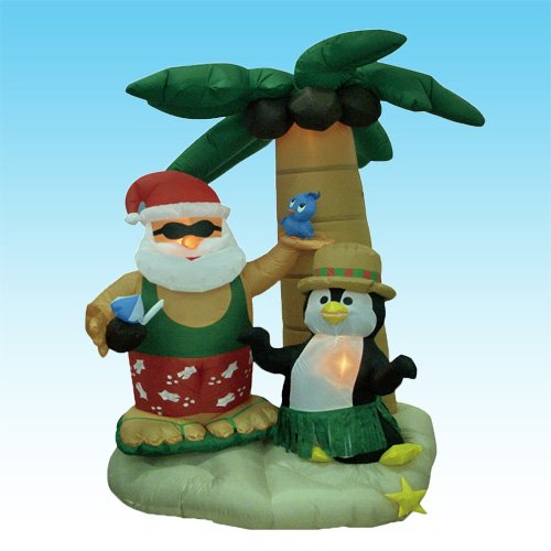 Penguin inflatable outdoor decorations comfy christmas