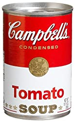 Campbell's Red and White Tomato Soup, 10.75-Ounce Cans (Pack of 48)