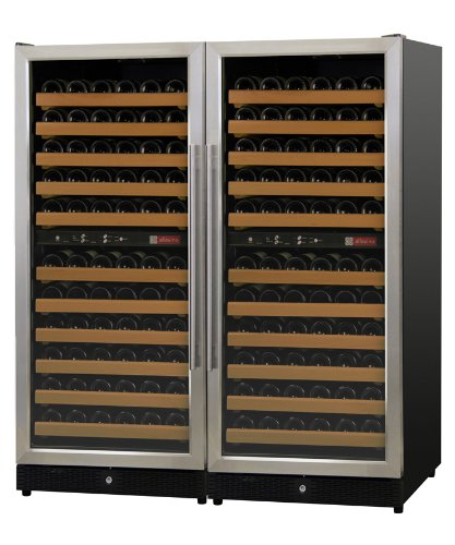 Allavino 2X-Mwr-1212-Ss 222 Bottle Multi-Zone Wine Cellar Refrigerator - Black Cabinet And Stainless