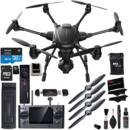 Yuneec-Typhoon-H-4k-Collision-Avoidance-Hexacopter-With-GCO3-4K-Camera-Kit-Wizard-Wand-Lexar-High-Performance-MicroSDHC-633x-32GB-Ritz-Gear-Reader-Polaroid-Memory-Card-Wallet-Accessory-Bundle