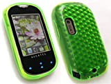 EMARTBUY ALCATEL OT-708 HEXAGON PATTERN GEL SKIN COVER/CASE GREEN