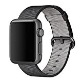 2016 Newest Apple Watch Band, Arbor Home MXY Fine Woven Nylon Strap Replacement Wrist Band Classic Bracelet Strap Bands for Apple iWatch 2016 (38MM-Black)