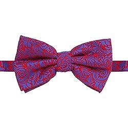 His Honour Men Maroon Embriodery Bow Tie
