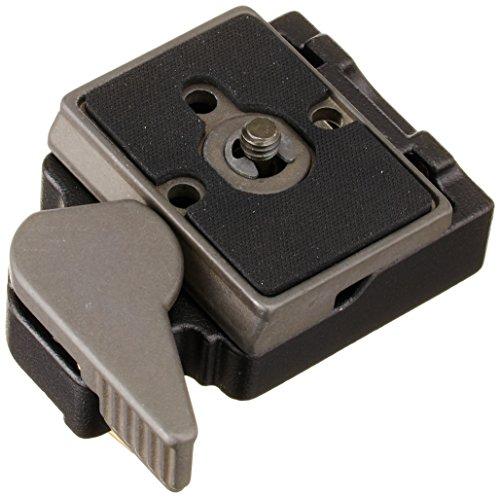 Manfrotto-323-Piastra-per-Testa-con-Attacco-Rapido-per-Fotografia-Nero-Alluminio