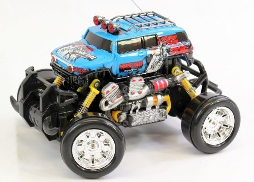 Extreme Monster Drifting Truck Rc Car 4X4 High Quality (Colors May Vary) Toyota Fj Cruiser 1:18 Electric Rtr Rc Truck, Remote Control Monster Truck With Extra Grip Tires And Rechargeable Batteries