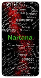 Nartana (Makes Others Dance Hindu Boy) Name & Sign Printed All over customize & Personalized!! Protective back cover for your Smart Phone : Samsung Galaxy S6 Edge
