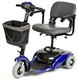 Spitfire Travel 3-Wheel Power Scooter, Blue