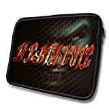 """Stigma Names"" designed for Heathcote, Designer 14'' - 39x31cm, Black Waterproof Neoprene Zipped Laptop Sleeve..."