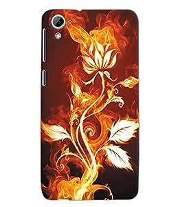 Fuson 3D Printed Floral Pattern Designer Back Case Cover for HTC Desire 826 - D1025