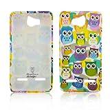 Huawei Ascend G600 G615 TPU SILICON LITTLE OWL Design protection phone bumper Case bag Etui Bumper thematys®