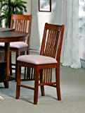 Mission Counter Height Chair (Set of 2) by Crown Mark