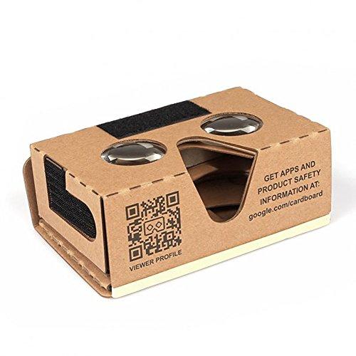 SainSonic DIY Virtual Reality 3D Google Glasses Cardboard Box V2 for Smartphones