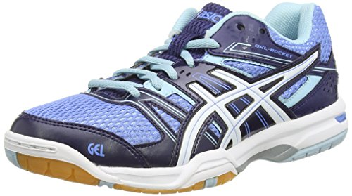 ASICS - Gel-Rocket 7, Scarpe Pallavolo da donna, blu (powder blue/white/indigo blue 4701), 40.5 (7 UK)