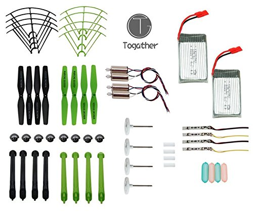 togatherr-crash-pack-pour-syma-x5hw-x5hc-rc-quadcopter-8-pieces-helices-8-pieces-datterrissage-patin