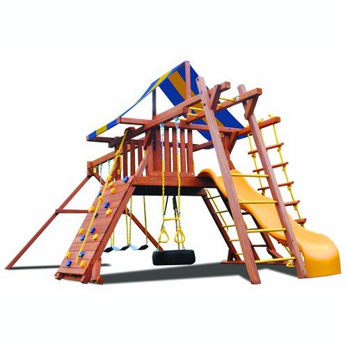 Superior Play Systems Original Playcenter With Monkey Bars - Wooden Swing Set