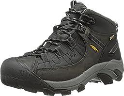 KEEN Men\'s Targhee II Mid TAC Outdoor Boot, Raven/Black, 10.5 M US