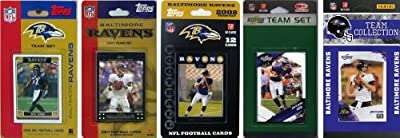 NFL Baltimore Ravens 5 Different Licensed Trading Card Team Sets