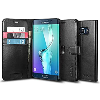 Spigen® [Wallet S] Stand Feature [Black] Premium Wallet Case with STAND Flip Cover for Galaxy S6 Edge+ (2015)