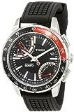 Timex T2N705 Men's Intelligent Quartz Black Silicone Strap Chronograph Watch