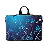 14 14.1 inch Blue Swirl Design Laptop Sleeve with Hidden Handle &#038; D Ring Hook Eyelets for Shoulder Strap Bag Carrying Case for 14&#8243; 14.1&#8243; Acer, Asus, Dell, Hp, Sony, Toshiba, Lenvono, IBM, Panasonic and similar size notebook | Review &#038; Best Price