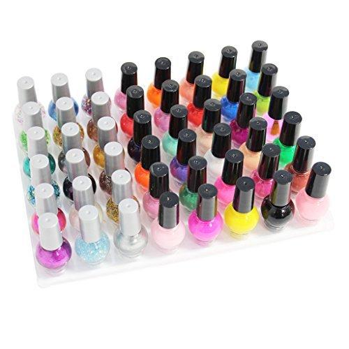 KurtzyTM Confezione da 48 smalti glitter e opachi alla moda per manicure/pedicure da 8ml