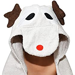 Plovf Deer Baby Towel - Premium Soft and Absorbent Cotton Hooded Towel for Girls and Boys