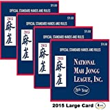 National Mah Jongg League 2015 Scorecard - Large Print (4 Pack)