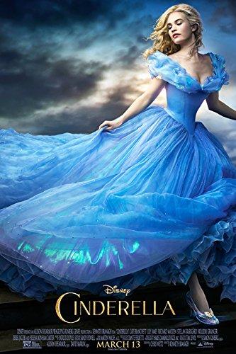 映画 シンデレラ Cinderella (2015) ポスター 約90x60cm ディズニー エラ キット王子 リリー・ジェームズ リチャード・マッデン [並行輸入品]