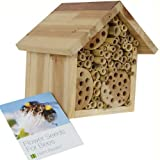 Bee Hotel & Flower Seeds for Bees by Plant Theatre - Gift Boxed - Seeds Included!