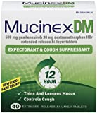 Mucinex DM Expectorant & Cough Suppressant, Extended-Release Bi-Layer Tablets, 40-Count Box