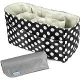 KF Baby Diaper Bag Insert Organizer (14 x 6.4 x 8 inch, Black) + Diaper Changing Pad Value Combo