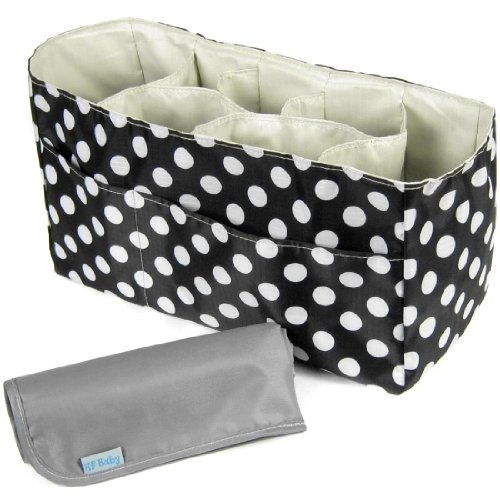 KF Baby Diaper Bag Insert Organizer (14 x 6.4 x 8 inch, Black) + Diaper Changing Pad Value Combo