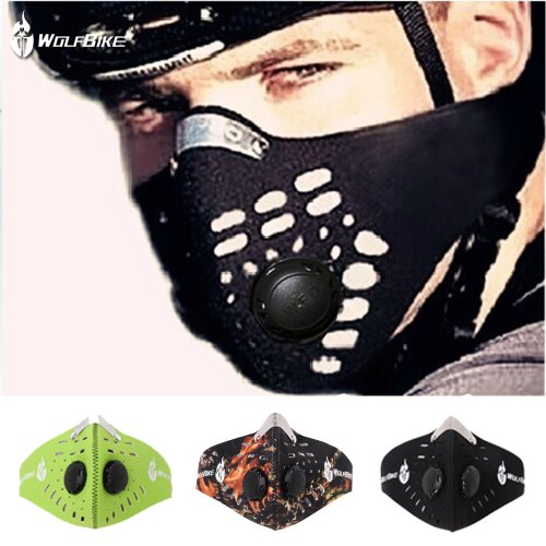WOLFBIKE-Super-Anti-Pollution-Motorcycle-Bicycle-Cycling-Racing-Mask-Carbon-Cloth-Bike-Ski-Half-Face-Mask-Filter-City-Style
