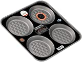 Progress YPUD0136 24 x 20 cm Teflon-Coated Non-Stick 4-Cup Yorkshire Pudding Tin