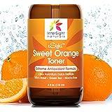 InterSight Sweet Orange Skin Toner for Face - HUGE 4 Oz - #1 Natural Antioxidant Facial Toner with Citrus Aurantium Dulcis Distillate, Aloe, Green Tea, Macha Rose - Organic Exfoliant