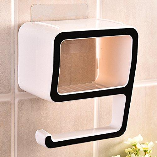 Stoga Figura 9 creativo di plastica scatola di sapone magia senza sapone bagno doccia cremagliera bagno organizzatori Make-up pasta parete/Nero