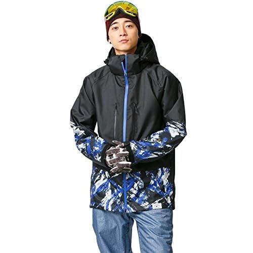 16'新作 43DEGREES スノーボードウェア スキーウェア スノボウェア メンズ 上下セット 46. Brush B × Denim like A Sサイズ