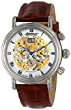 Ingersoll IN2700WH Ghandi Automatic Watch with Brown Leather Strap