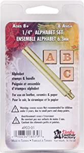 Leather Factory Easy-To-Do Series Stamp Set, 1/4-Inch, Alphabet