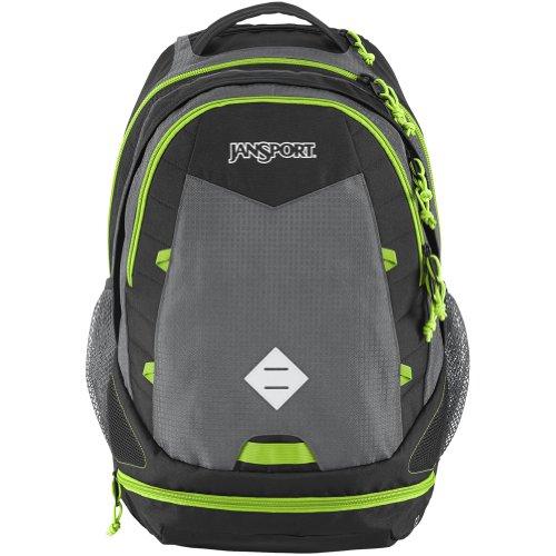 ♤ JanSport Boost Backpack - Shady Grey Zap Green   23.1