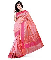 Asavari Fresh Pink Cotton Banarasi Saree