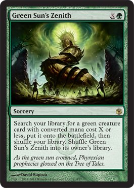 Green Sun's Zenith - Mirrodin Besieged - Rare