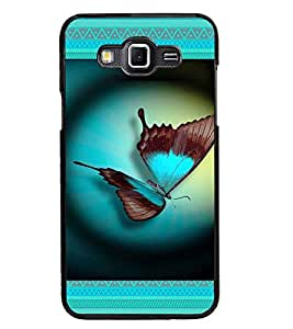 PrintDhaba Butterfly D-4644 Back Case Cover for SAMSUNG GALAXY GRAND MAX (Multi-Coloured)