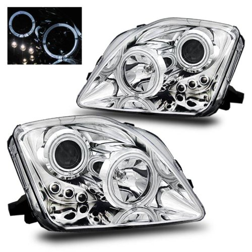 SPPC Projector Led Headlights Halo Chrome For Honda Prelude - (Pair) (Halo Lights For Honda Prelude compare prices)