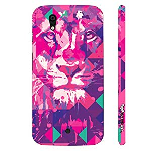 Micromax Canvas A1 Lion Art Pink designer mobile hard shell case by Enthopia