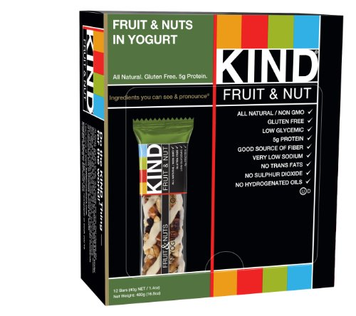 KIND Bars, Fruit & Nuts in Yogurt, Gluten Free, 1.4 Ounce Bars, 12 Count (Kind Bars With Yogurt compare prices)